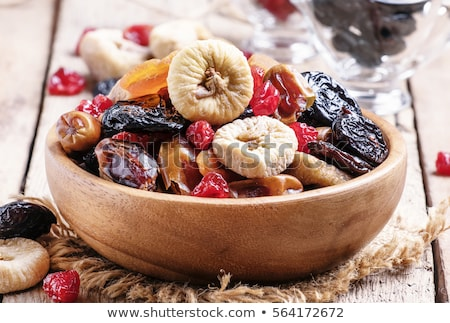 Figs, prunes and dried apricots - healthy dried fruits Stock photo © tatiana3337