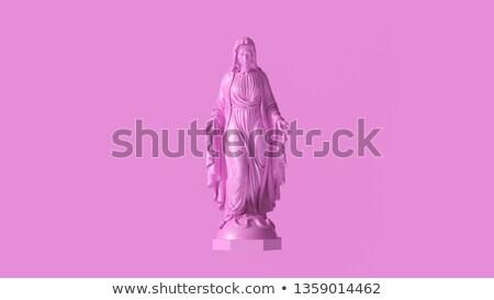 Modląc posąg biały orientalny kultu religii Zdjęcia stock © t3mujin