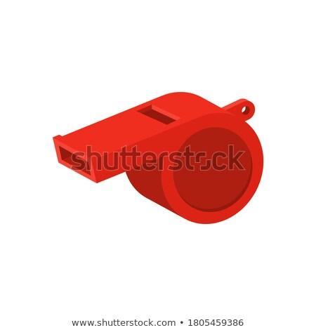 árbitro vermelho assobiar ilustração trabalhar Foto stock © bluering