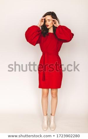 сказка · красоту · женщину · моде · красное · платье · сидят - Сток-фото © dariazu