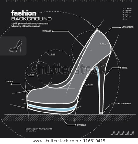 High heel shoe sketch icon. Stock photo © RAStudio