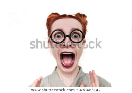 Humeurig portret mooie jonge meisje Stockfoto © lithian
