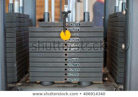 Stockfoto: Roestige · metaal · gewichten · gymnasium · bodybuilding