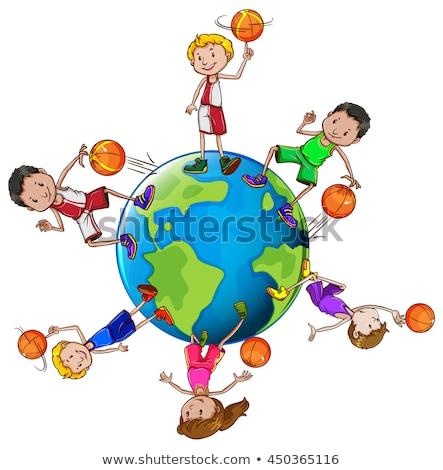 баскетбол · аннотация · краской · фон · искусства - Сток-фото © bluering