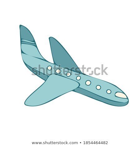 A vintage grey and blue coloured plane Stock photo © bluering