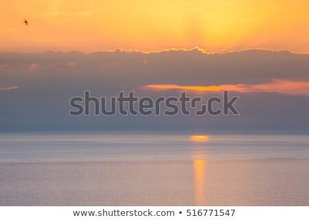 érdekes napfelkelte tenger Szicília Olaszország víz Stock fotó © CaptureLight