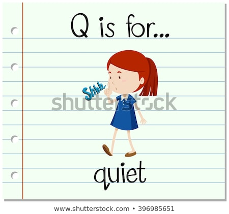 Flashcard letter Q is for quiet Stock photo © bluering