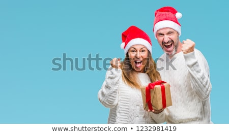 rojo · Navidad · regalo · abierto · oro · cinta - foto stock © ozgur