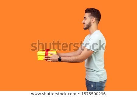 Sorridente barbudo homem dom primeiro pessoa Foto stock © ozgur