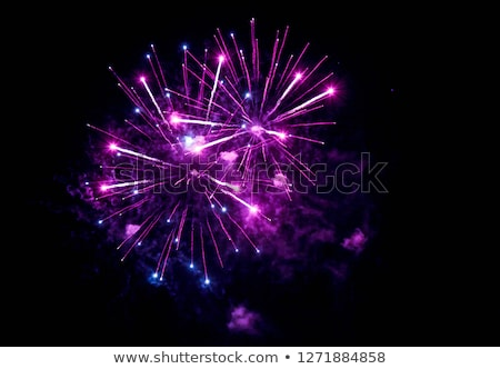 Pourpre feux d'artifice vert noir lumière bleu Photo stock © blackmoon979