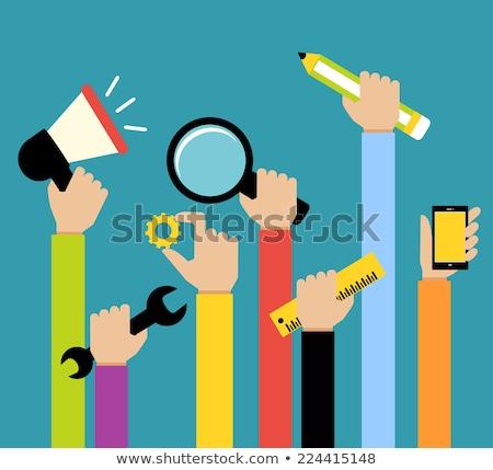 Hangfal terv stílus kép bannerek háló Stock fotó © robuart