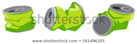 green aluminum cans on the floor stock photo © bluering