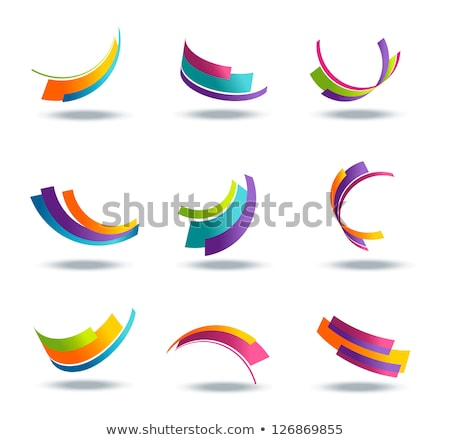 Striped Abstract Icon Stock photo © cidepix