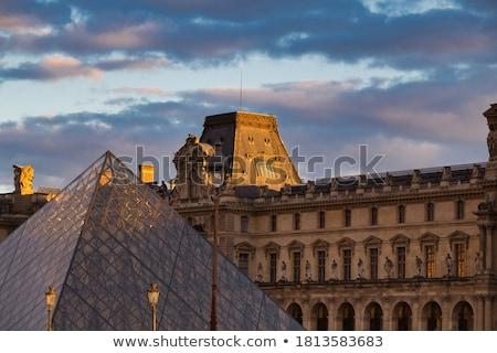 panjurlu · pencere · müze · Paris · 16 · manzara · piramit - stok fotoğraf © hsfelix