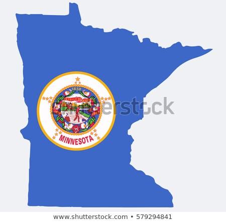 ABD Minnesota bayrak beyaz 3d illustration doku Stok fotoğraf © tussik