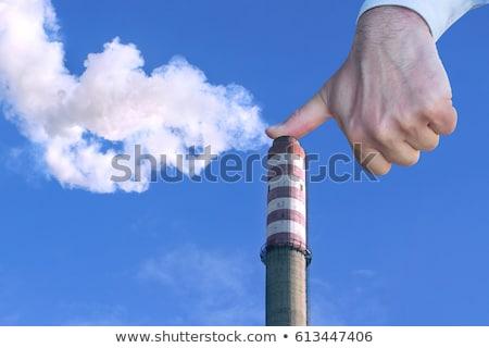 Adam el durdurmak çevre kirlenme Stok fotoğraf © smuki