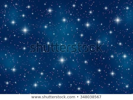 Foto stock: Brilhante · estrelas · brilhante · voador · escuro · sol