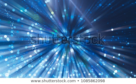 Feux d'artifice bleu affiche style Photo stock © robuart