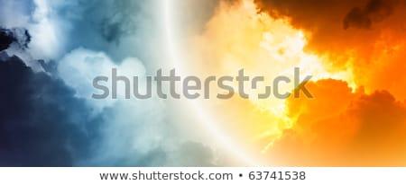 cielo · puerta · dorado · león · estatua - foto stock © lightsource