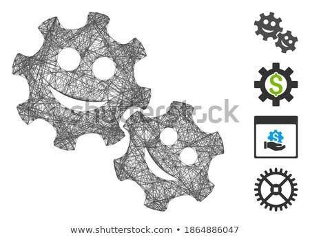 tools · versnellingen · glimlacht · iconen · vector - stockfoto © ahasoft