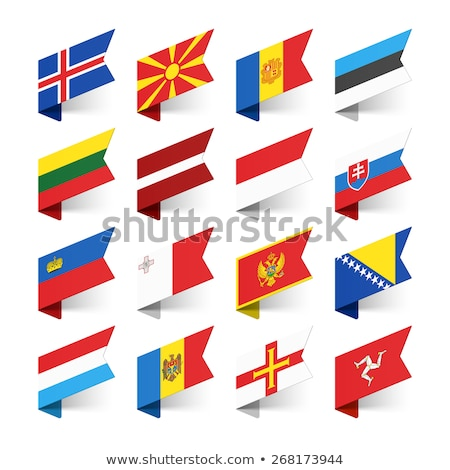 Bandera papel etiqueta símbolo Foto stock © ayaxmr