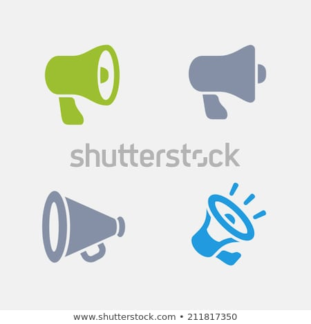 Bullhorns - Granite Icons stock photo © micromaniac