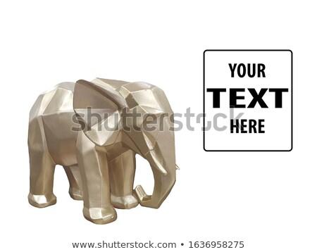 Elefante figurina isolato bianco legno africa Foto d'archivio © gsermek