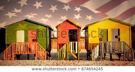 Ahşap kum açık gökyüzü plaj telefon Stok fotoğraf © wavebreak_media