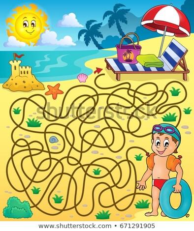 maze 28 with beach theme 2 stock photo © clairev