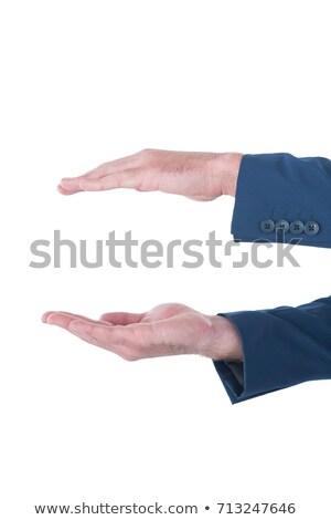 Strony biznesmen obrotu niewidoczny produktu biały Zdjęcia stock © wavebreak_media