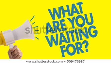 What Are You Waiting For - Business Concept. Stock photo © tashatuvango