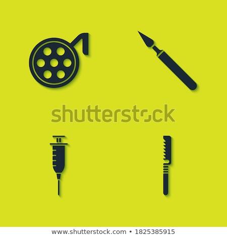 bisturi · ilustração · branco · fundo · faca · aço - foto stock © ahasoft