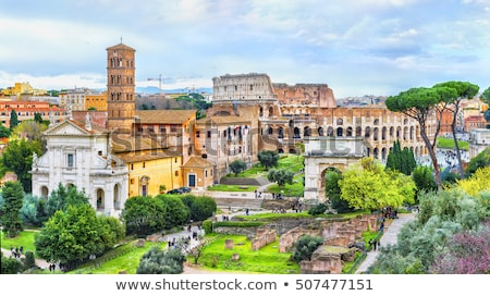 church of santa francesca romana in roman forum stock photo © ankarb