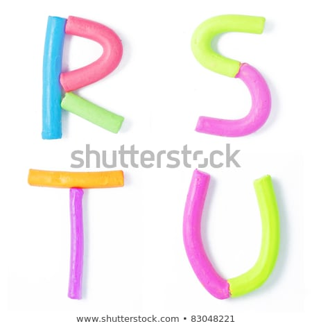 Letters  r,s,t,u  candies  Stock photo © Olena