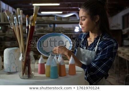 trabalhando · argila · escritório · mãos · trabalhar · trabalhador - foto stock © wavebreak_media