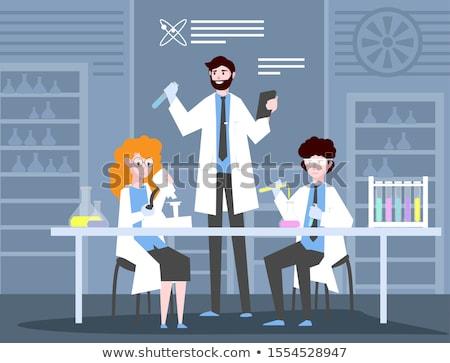 лаборатория · помощник · рабочих · кавказский · пробирку - Сток-фото © rastudio