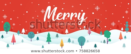 minimal christmas landscape design design with tree Stock photo © SArts