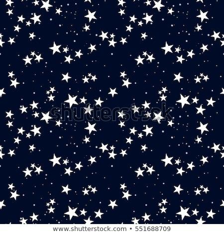 végtelenített · csillagok · minta · vektor · egyszerű · fehér - stock fotó © tanya_golovanova
