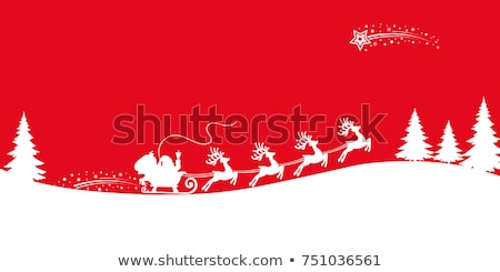 Kerstman slee eland vector rendier christmas Stockfoto © beaubelle