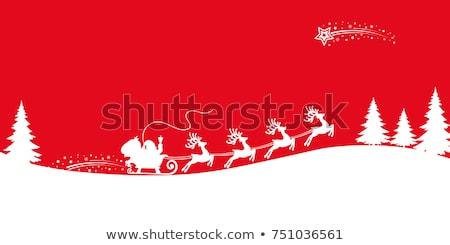 ジャンプ · トナカイ · 文字 · デザイン · 雪 · 背景 - ストックフォト © beaubelle