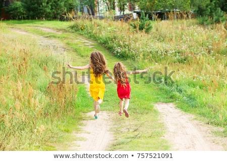 Fiatal nővérek játszik gyermek jókedv portré Stock fotó © IS2