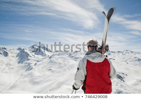 вид сзади зрелый человек небе природы зима Сток-фото © IS2
