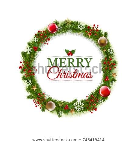 alegre · Navidad · año · nuevo · vacaciones · brillo · copo · de · nieve - foto stock © barbaliss