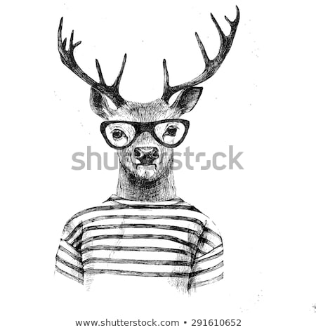 Male hipster Hand-drawn Stock photo © frescomovie