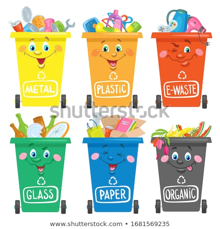 Six garbage cans Stock photo © Ustofre9