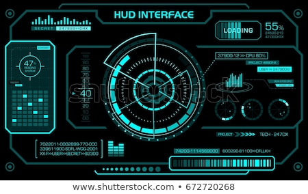 Futuristic head-up display on black background. Stock photo © almagami