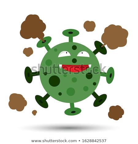 緑 · ウイルス · デジタルイラストレーション · 抽象的な · 医療 - ストックフォト © lightsource