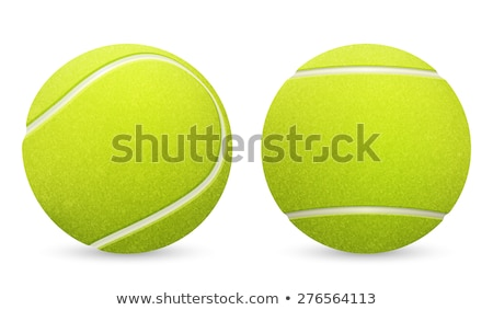 желтый теннисный мяч изолированный вектора реалистичный иллюстрация Сток-фото © pikepicture