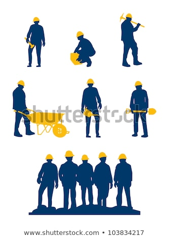 Helmet miner isolated on white background. Vector illustration Stock photo © popaukropa