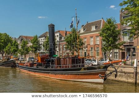 öreg város Hollandia óváros házak épület Stock fotó © compuinfoto